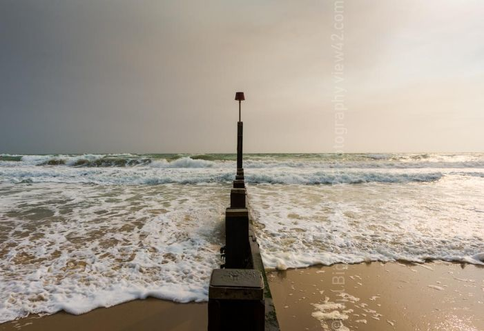 waves Boscombe beach