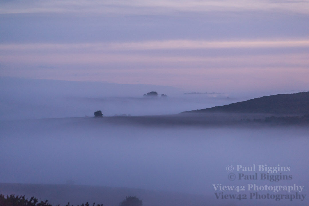 Mist in The Valleys (headlights in the distance)