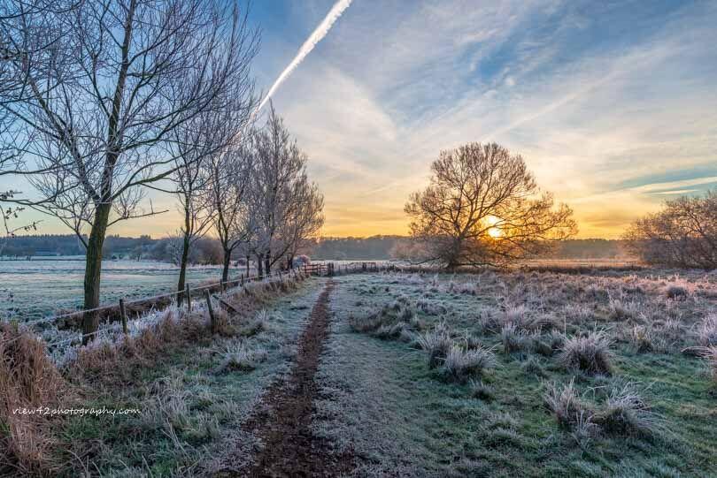 Winter in The Avon Valley at Burgate Manor Farm