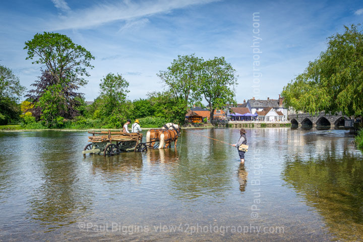 """Fisherman at The Hay Wain. 24"""" x 18"""" incl. mount, fine art paper. Limited Edition. £45"""