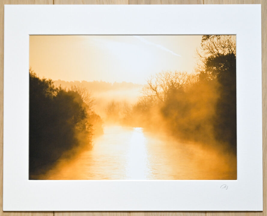"""November sunrise on The River Avon, A3 print with 20"""" x 16"""" mount. £28"""