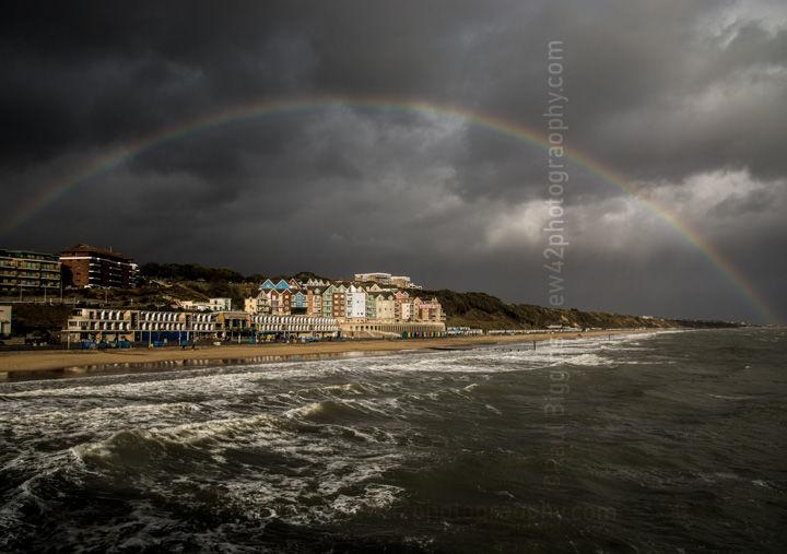 "Rainbow over Boscombe, 16"" x 12"" incl. mount: £20"