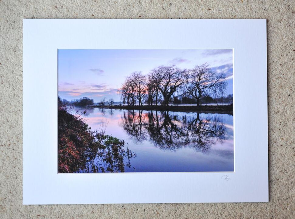 "River Avon at Fordingbridge, A4 print with 16"" x 12"" mount. £20"