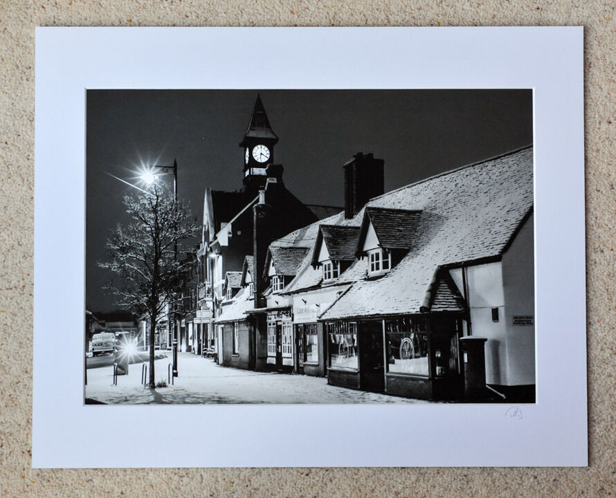 """Fordingbridge Town Hall, February 2018, A3 print with 20"""" x 16"""" mount. £28"""