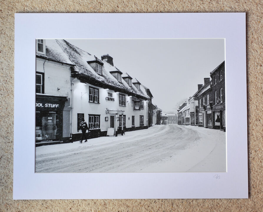 """Beast From The East in Fordingbridge, A3 print with 20"""" x 16"""" mount. £28"""