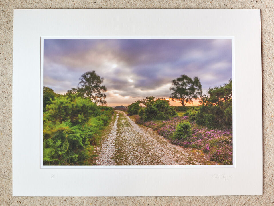 """Summer Storm at Telegraph Hill, A3+ print with 24"""" x 18"""" mount, fine art paper, Limited Edition. £45"""