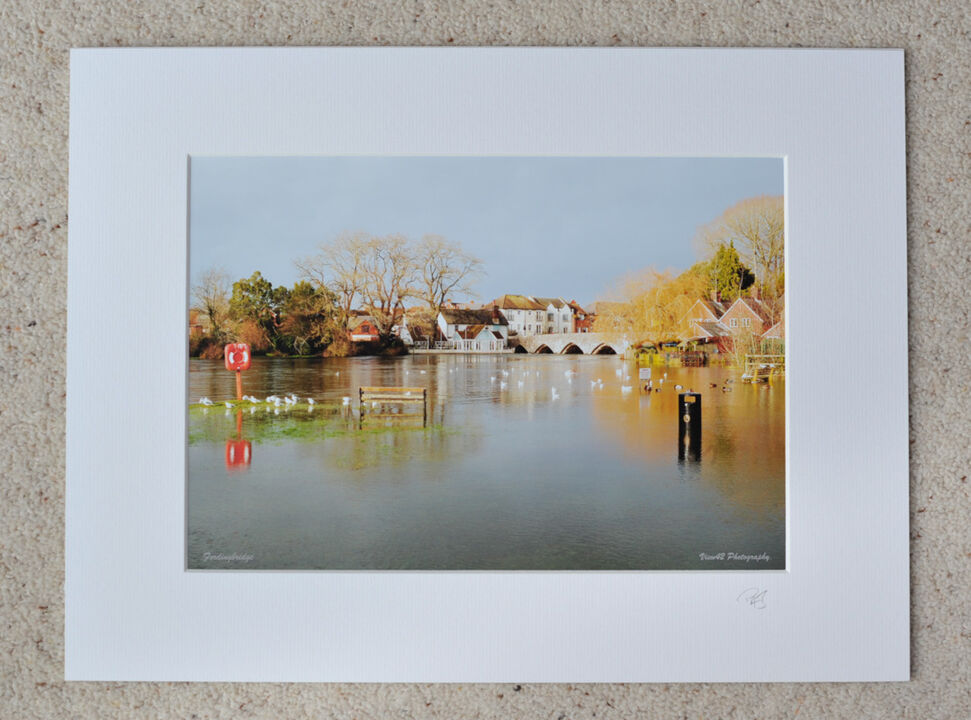 """Flooded Fordingbridge, 2012, A4 print with 16"""" x 12"""" mount. £15"""