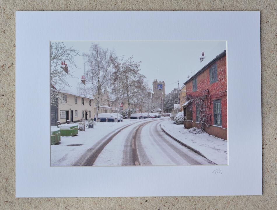 "Church Street, Fordingbridge, A4 print with 16"" x 12"" mount. £20"