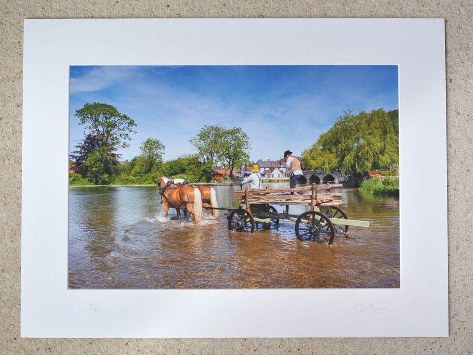 """The Hay Wain, A3+ print with 24"""" x 18"""" mount, fine art paper. Limited Edition. £40"""