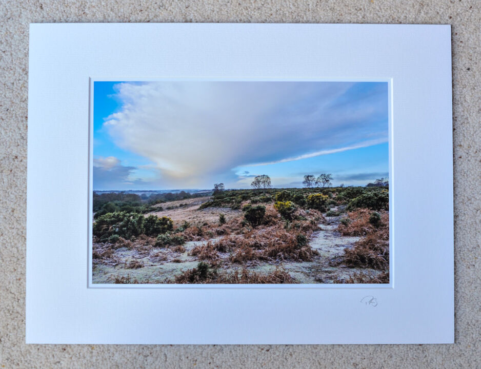 """Frost at Ashley Range, A4 print with 16"""" x 12"""" mount. £20"""
