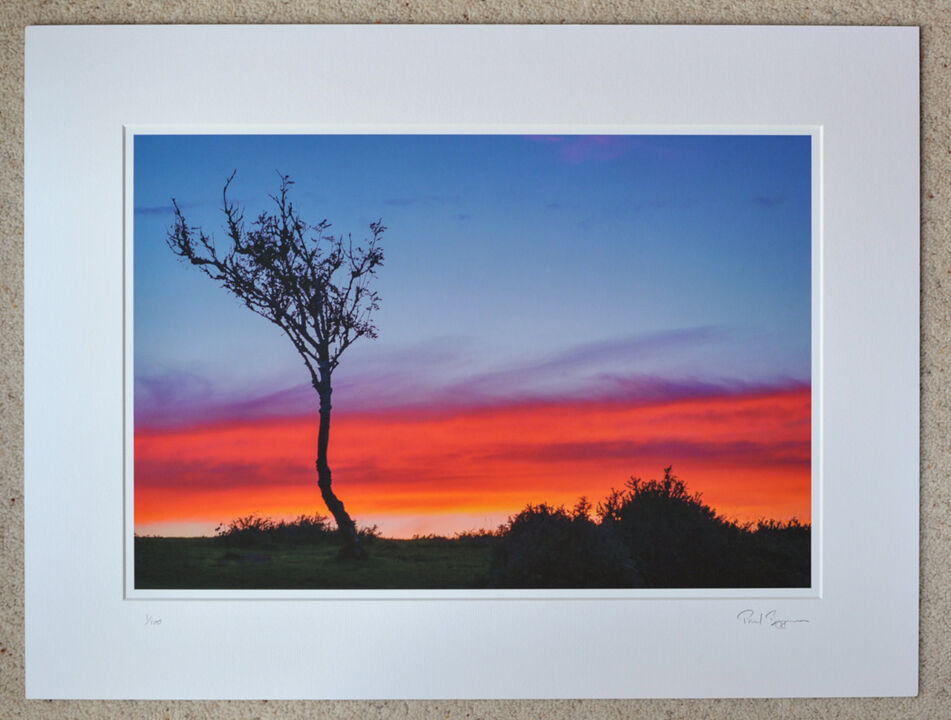 "Red Sky at Deadman Hill, A3+ with 24"" x 18"" incl. mount, fine art paper. Limited Edition. £45"