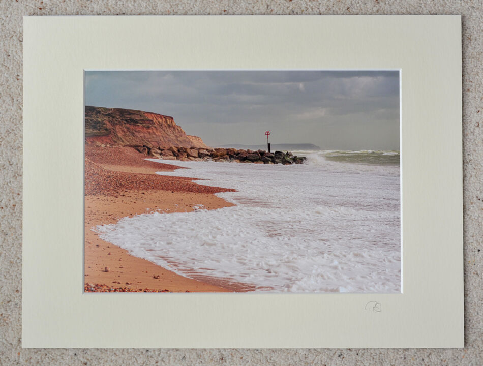 """Storm at Hengistbury Head, A4 print with 16"""" x 12"""" mount. £15"""