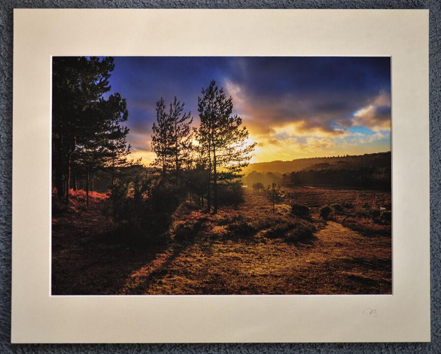 "Warming Winter, Deadman Hill, A3 print with 20"" x 16"" mount. £28"