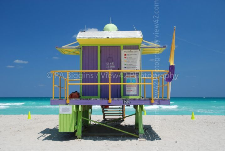 Life Guard Station, Miami, USA.