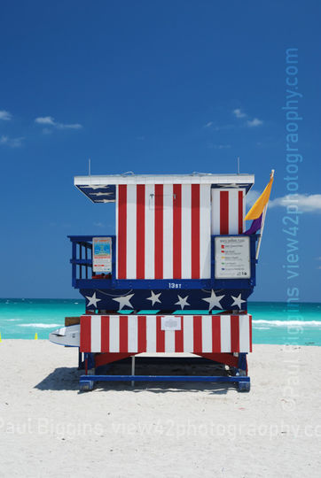 "Stars and Stripes, Miami, 16"" x 12"" incl. mount: £20"