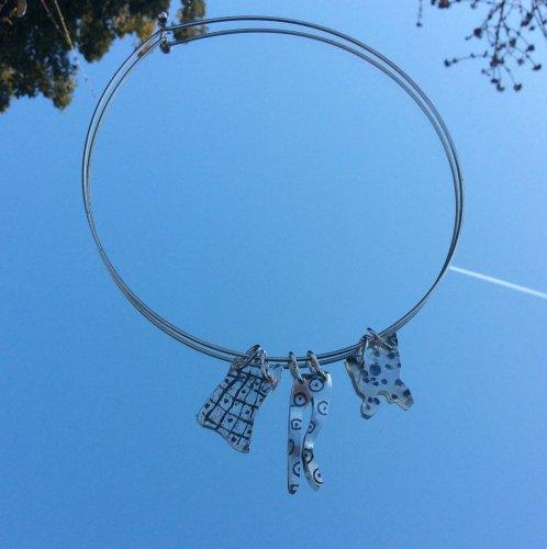 Sterling silver washing line choker