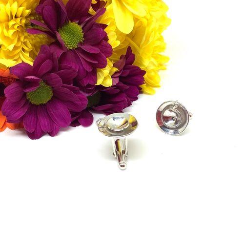 Sterling silver cup of tea cufflinks
