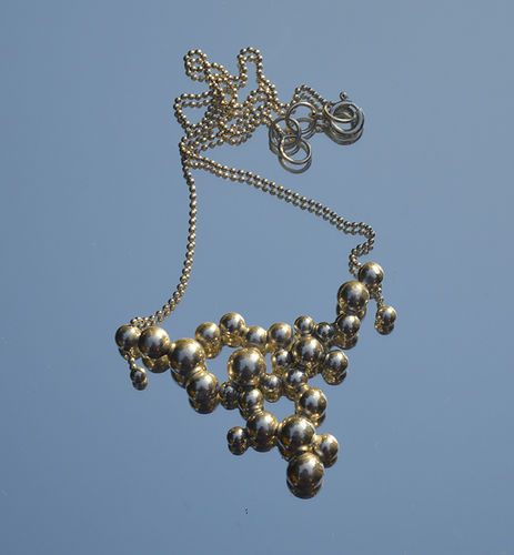 Sterling silver bubbles choker necklace