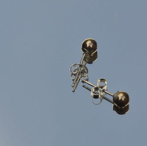 Sterling silver & 9 carat gold earrings