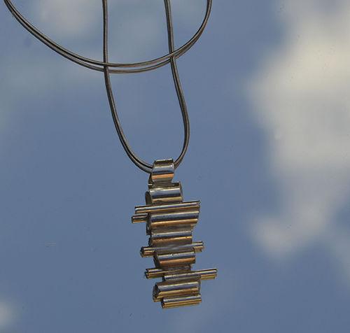 Sterling silver tube pendant