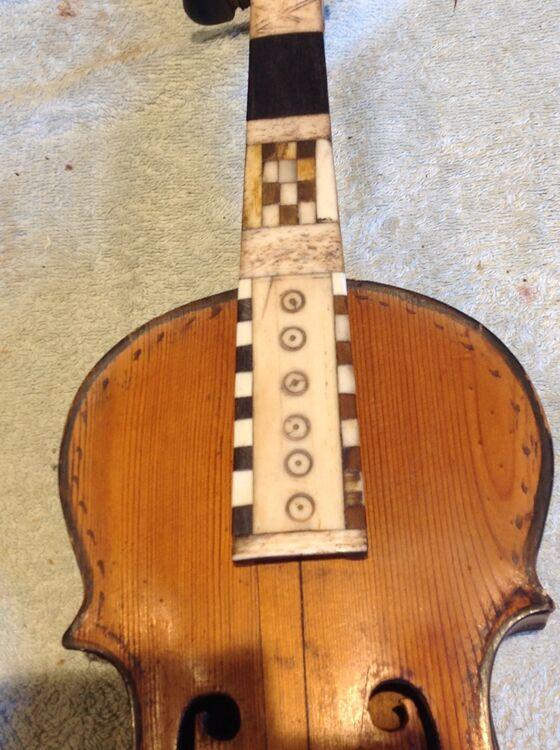 1885 Hardanger fiddle, fingerboard restoration