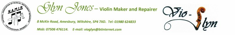 Glyn Jones, Violin maker and repairer