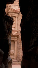 The treasury from the siq at Petra