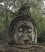 Guardian at the gateway to Angkor Thom