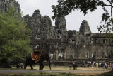 Elephant ride around Bayon