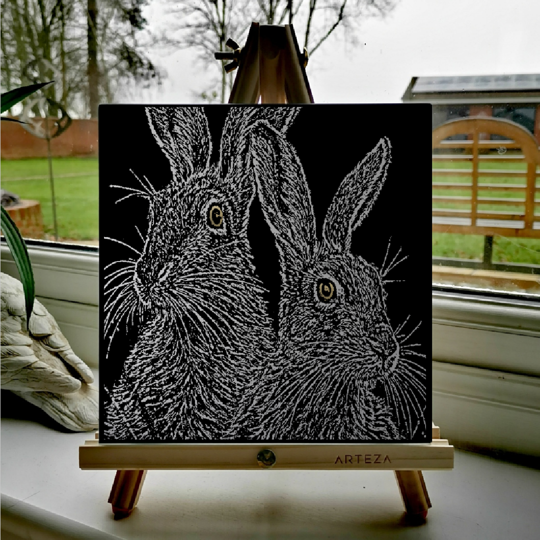 Two brown hares - £99