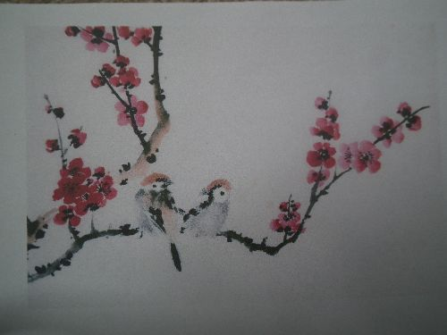 Chinese birds on plum branch