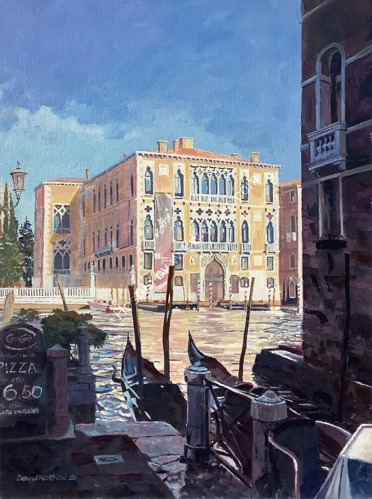 'MUST BE LATE LUNCH' GRAND CANAL VENICE