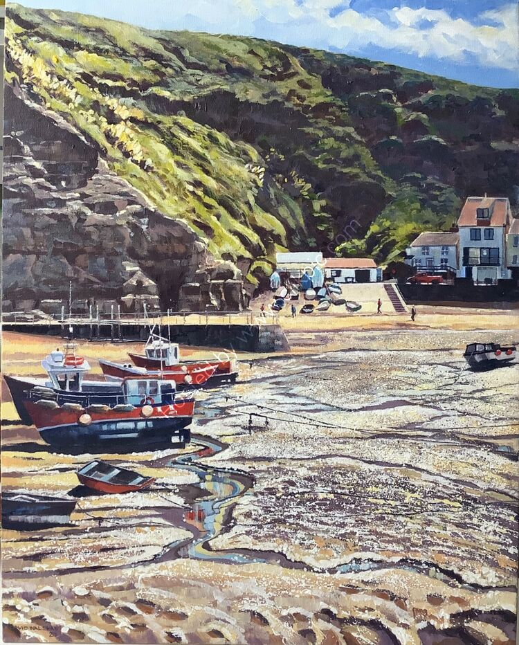 'MUDDY SPARKLE STAITHES HARBOUR' STAITHES NORTH YORKSHIRE