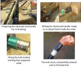 This was a blackthorn walking stick that we re-furbished for an Irish customer, restoring it to its former glory.