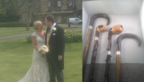 Four Walking Sticks and a Wedding......