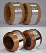 Hand-made from oak or walnut, with a hall-marked sterling silver band, with your choice of engraving (military emblem, dates, initials etc), these military napkin rings are unique, personalised, useful, great-looking, and should last you well into retirement.  Please get in touch to discuss engraving details etc, the options are endless.  Military cap-badges and emblems, initials, dates of service, and as you see from the image, we can even do Nelson's message from the Battle of Trafalgar