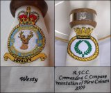 Irish linen military napkins, with your choice of colour and embroidery.  Each napkin can show not only the required military capbadge, but also a personalised name or commemoration
