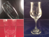 Any glass you want, with any design you want on it.....