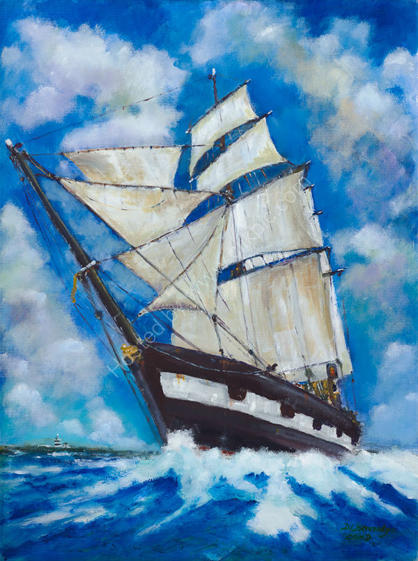 Emigrant Ship off the Hook Lighthouse