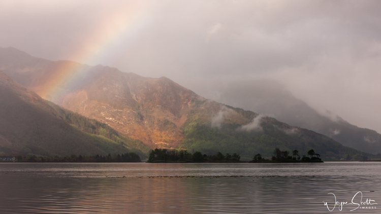 loch Leven Mist and Rainbow