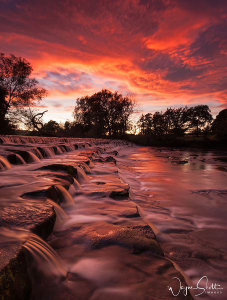 Burley in Wharfedale Sunset