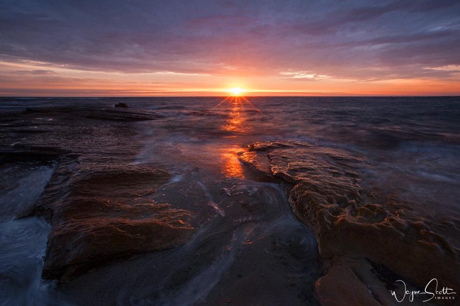 Beadnel Bay Sunrise in Northumberland