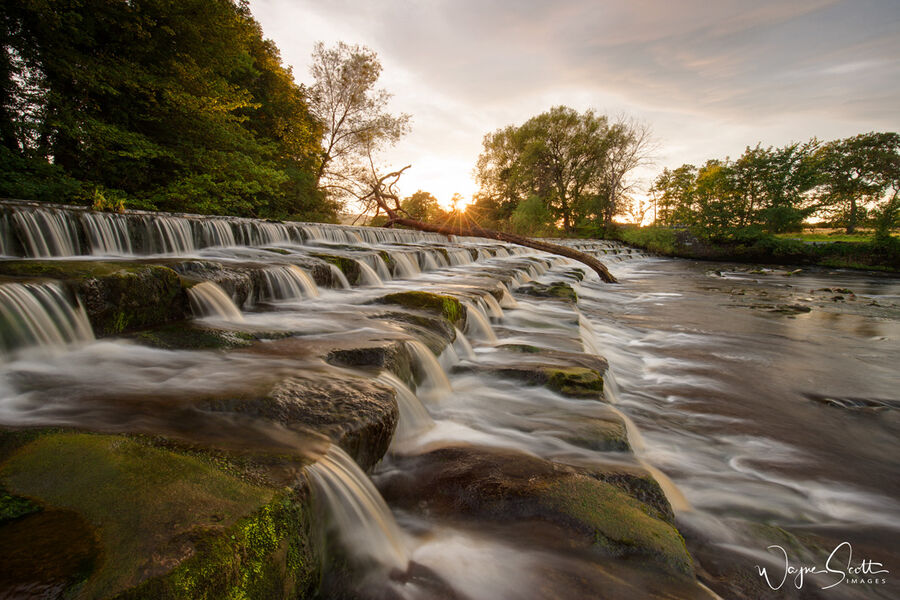 The weir, Burley in Wharfedale