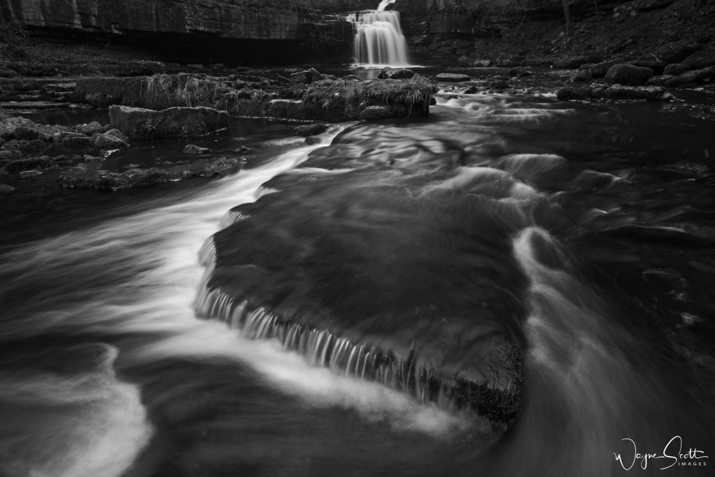 West Burton Falls (black & white)