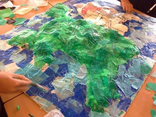3D Sculpture project based on the Gwenillian Ferch Llewelyn at Ysgol Craig y Don.