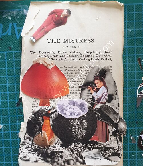 The Mistress - Mixed Media Collage 2020
