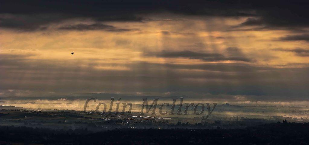 Dawn Breaking Over Volvic
