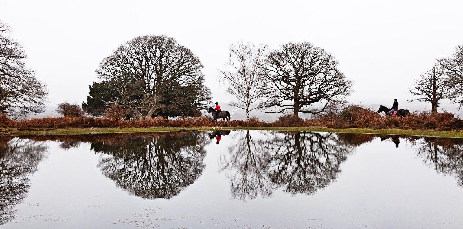 Riders at Mogshade Pond