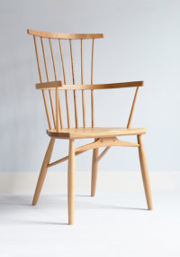 Clissett armchair in oak designed by Koji Katsuragi