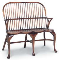 SF152 TWO-SEATER SETTEE WITH CABRIOLE LEGS <br> As SF27, but with cabriole legs.